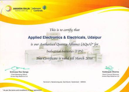 Applied Electronics & Electricals Certificate